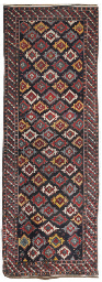 An antique Kuba long rug