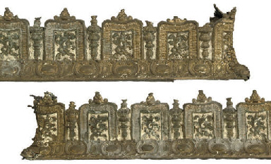 A PAIR OF VICTORIAN GILT BRASS