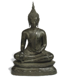 A SOUTH EAST ASIAN BRONZE BUDD