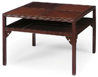 A GREEK HARDWOOD COFFEE TABLE