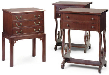 A PAIR OF GREEK MAHOGANY BEDSI