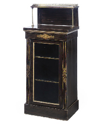 A REGENCY GILT METAL MOUNTED F