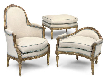 A FRENCH GILTWOOD DUCHESS BRIS