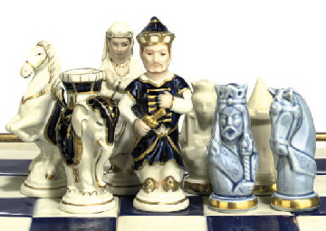 A BOHEMAIN PARCEL-GILT PORCELA