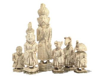A CENTRAL INDIAN CARVED IVORY