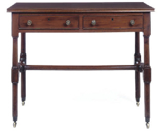 A GEORGE IV MAHOGANY TWO-DRAWE