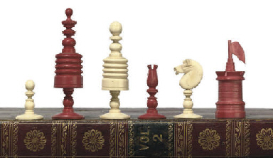 AN ENGLISH BONE PLAYING CHESS