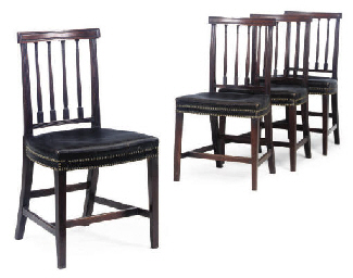 A SET OF FOUR GEORGE IV MAHOGA