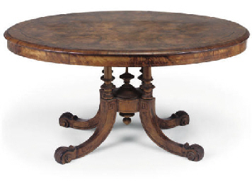 A VICTORIAN WALNUT AND MARQUET