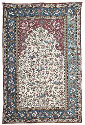 A CAUCASIAN SILK EMBROIDERED P