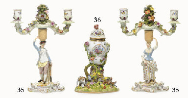 A MEISSEN POT-POURRI VASE AND