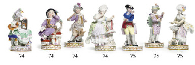 TWO MEISSEN FIGURES OF YOUNG B