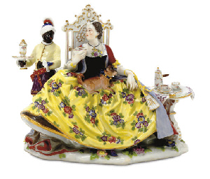 A MEISSEN CRINOLINE GROUP