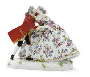 A MEISSEN CRINOLINE GROUP OF T