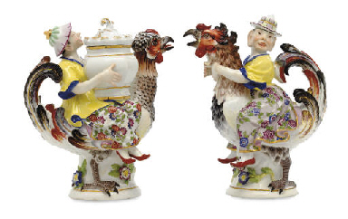 TWO MEISSEN CHINOISERIE FIGURA