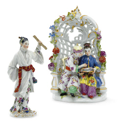 A MEISSEN CHINOISERIE ARBOUR G