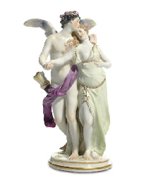 A MEISSEN FIGURE GROUP OF CUPI