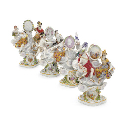 FOUR MEISSEN MYTHOLOGICAL FIGU