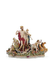 A MEISSEN FIGURE GROUP, 'NEPTU