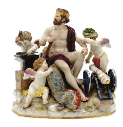 A MEISSEN MYTHOLOGICAL FIGURE