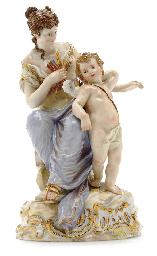 A MEISSEN FIGURE GROUP OF VENU