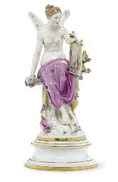 A MEISSEN FIGURE OF PSYCHE