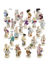 TEN MEISSEN FIGURES OF PUTTI I