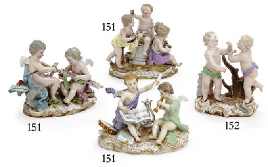 THREE MEISSEN FIGURE GROUPS EM