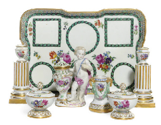 AN ASSEMBLED MEISSEN (OUTSIDE-