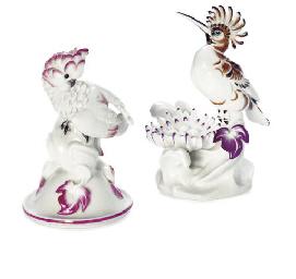 TWO MEISSEN MODELS OF BIRDS
