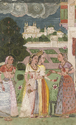 LADIES IN A GARDEN, POSSIBLY D