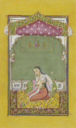 LADY IN A PAVILION, HYDERBAD,