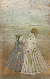 NOBLE WITH HIS LADY, BIKANER,