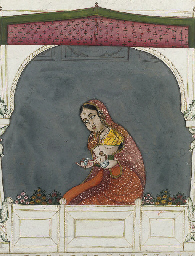 COURTESAN ON A TERRACE, RAJAST