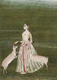 LADY WITH TWO GAZELLES, RAJAST