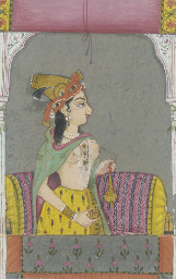 A COURTESAN ON A TERRACE, RAJA