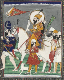 RANJIT SINGH ON HORSEBACK WITH