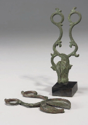 A PAIR OF KHORASAN BRONZE SNUF