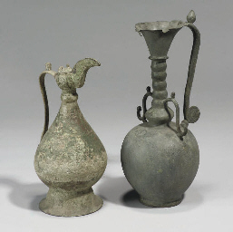 A KHORASAN BRONZE OIL LAMP, IR