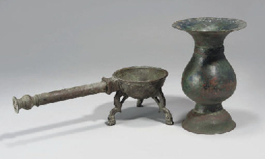 A KHORASAN BRONZE INCENSE BURN
