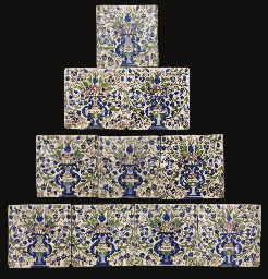 A QUANTITY OF QAJAR TILES, IRA