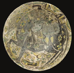A NISHAPUR ROUNDED BOWL, IRAN,