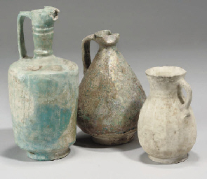 THREE MEDIEVAL POTTERY VESSELS