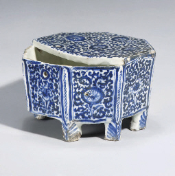A SAFAVID BLUE AND WHITE OCTAG