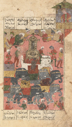 AN ELEPHANT PROCESSION, SAFAVI