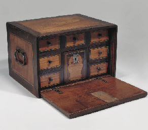 AN INDO-PORTUGUESE WOOD CABINE