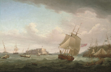 A merchantman and other vessel