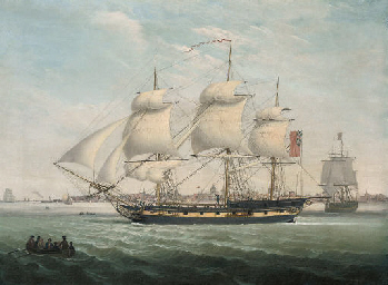 Merchantmen in the Mersey, wit
