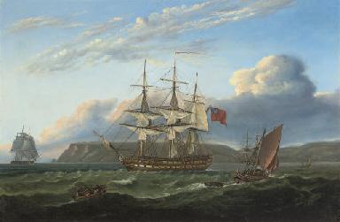 H.M.S. Bellerophon making sail