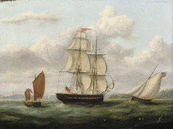 A Royal Naval frigate and othe